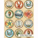 Морские Стикеры для скрапбукинга, кардмейкинга K&Company