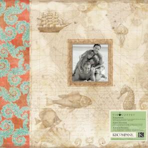 Путешествие 31x31см Альбом для скрапбукинга K@Company
