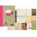 Розовая вещица Смэшбук блокнот книжка для скрапбукинга Pretty Pink Smash K&Company