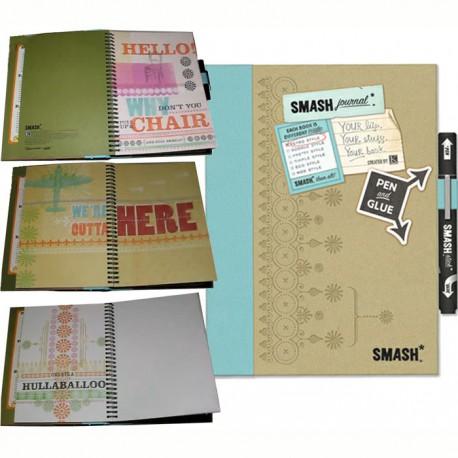 Голубое ретро Смэшбук блокнот книжка для скрапбукинга  Retro Blue K&Company страницы
