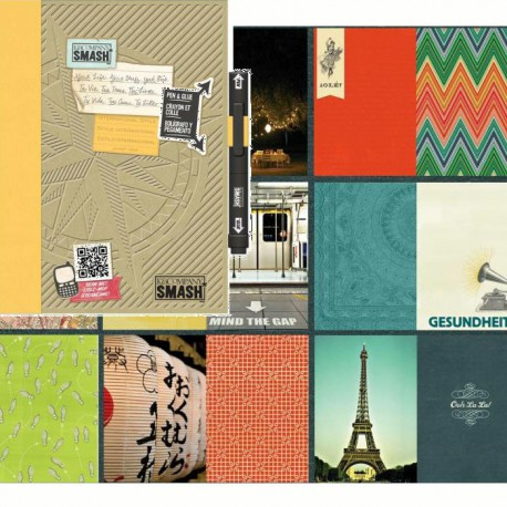 Международный Смэшбук блокнот книжка для скрапбукинга International K&Company страницы