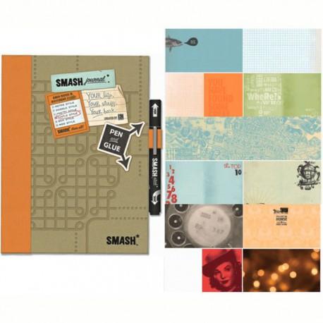Оранжевый Смэшбук блокнот книжка для скрапбукинга Simple Orange K&Company