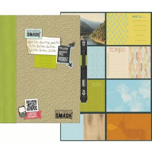 Зеленый Смэшбук блокнот книжка для скрапбукинга Eco Green Smash K&Company