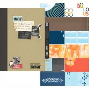 Модный черный Смэшбук блокнот книжка для скрапбукинга Mod Black Smash K&Company
