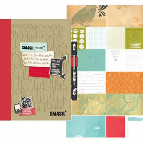 Красный Смэшбук блокнот книжка для скрапбукинга Doodle Red K&Company страницы