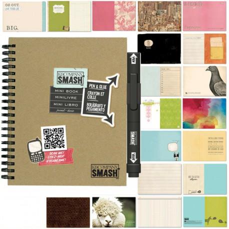 Мини Смэшбук блокнот книжка для скрапбукинга Mini K&Company страницы
