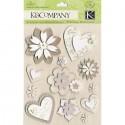 Сердца и цветы Стикеры для скрапбукинга, кардмейкинга K&Company