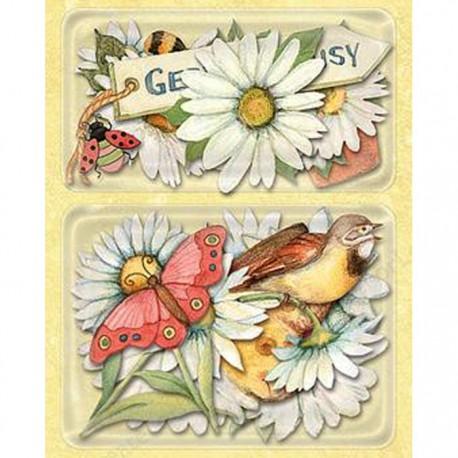 Весенние ромашки Стикеры для скрапбукинга, кардмейкинга K&Company