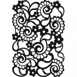 Турецкие огурцы 13,5х20см Трафарет для фона 009 Hintergrundschablone Viva Decor