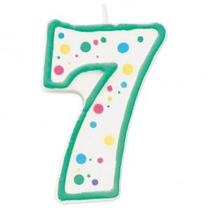 Цифра 7 Свеча зеленая Wilton ( Вилтон )