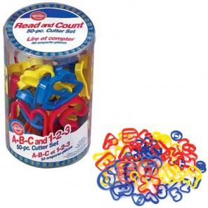 Буквы и цифры 50шт. Формочки пластиковые для печенья Wilton ( Вилтон )