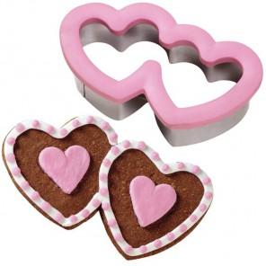 Двойное сердце Форма для вырезания печенья Wilton ( Вилтон )