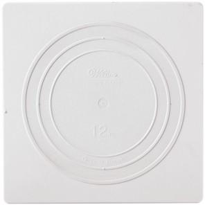 Квадрат 30,5см Тарелка пластиковая для коржей Wilton ( Вилтон )