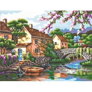 Вид на реку Раскраска (картина) по номерам акриловыми красками Dimensions