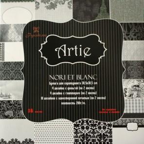 Черное и белое Набор бумаги 30x30 для скрапбукинга, кардмейкинга