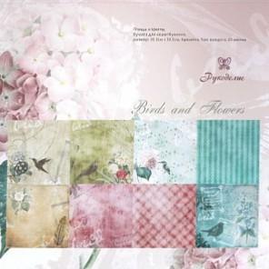 Птицы и цветы Набор бумаги 30x30 для скрапбукинга, кардмейкинга