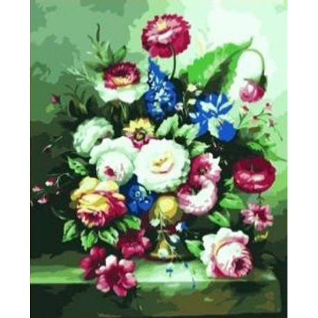 Цветы Раскраска по номерам акриловыми красками на холсте Iteso