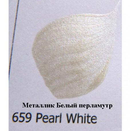 659 Белый перламутр Металлик Акриловая краска FolkArt Plaid
