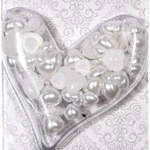Сердечки жемчужные белые Scrapberry's