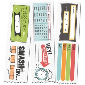 Календарь лента Скотч декоративный Smash ( Смэш ) для скрапбукинга K&Company