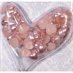 Сердечки нежно-розовые жемчужные Scrapberry's