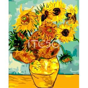 Подсолнухи Ван Гога Раскраска по номерам акриловыми красками на холсте Iteso