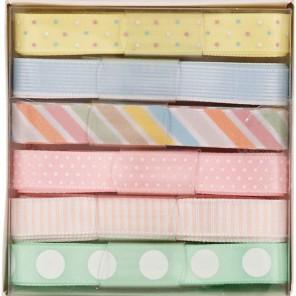 Spots & Stripes Pastels набор Ленты для скрапбукинга, кардмейкинга Docrafts