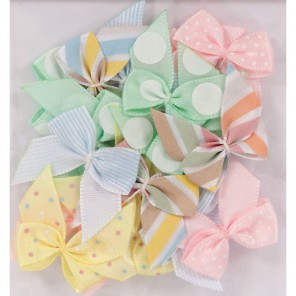 Spots & Stripes Pastels Бантики Украшения для скрапбукинга, кардмейкинга Docrafts