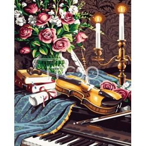 Скрипка Раскраска по номерам акриловыми красками на холсте Iteso