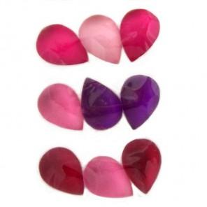 Капли розовые 212 Стразы набор Decopatch