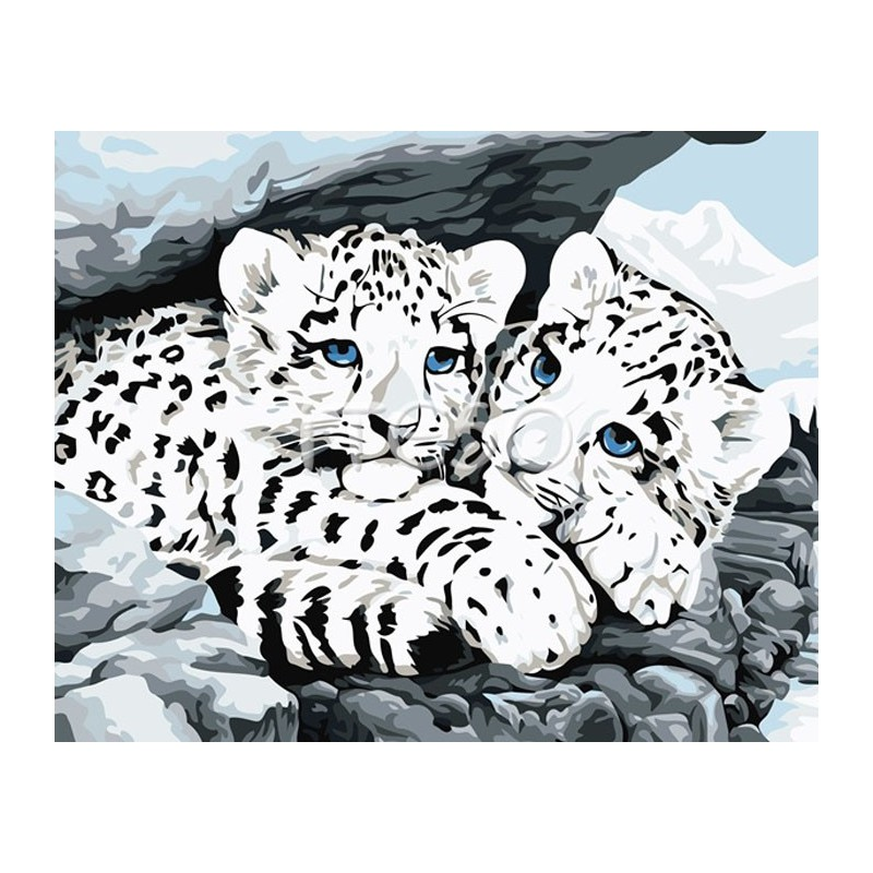 White tiger paintings