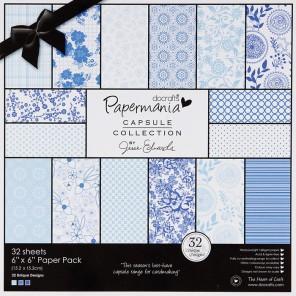 Burleigh Blue Набор бумаги 15x15 для скрапбукинга, кардмейкинга Docrafts