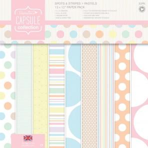 Spots & Stripes Pastels Набор бумаги для скрапбукинга, кардмейкинга Docrafts