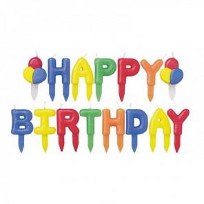 Happy birthday Набор свечей Wilton (Вилтон)