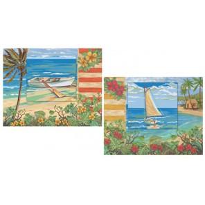 Морской пейзаж Раскраска по номерам акриловыми красками Plaid