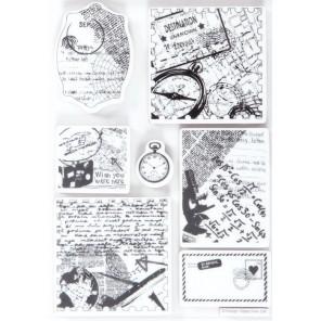 Путешествия Набор резиновых штампов для скрапбукинга, кардмейкинга Docrafts