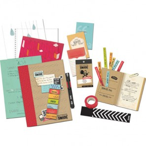 Red Folio Смэшбук блокнот книжка для скрапбукинга Smash K&Company