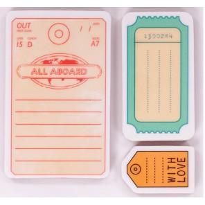 Бирки All Aboard Штампы резиновые Набор для скрапбукинга, кардмейкинга Docrafts