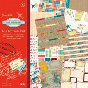 All Aboard Набор бумаги 30x30 для скрапбукинга, кардмейкинга Docrafts