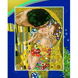 Поцелуй ( репродукция Густав Климт) Раскраска по номерам акриловыми красками Schipper (Германия)