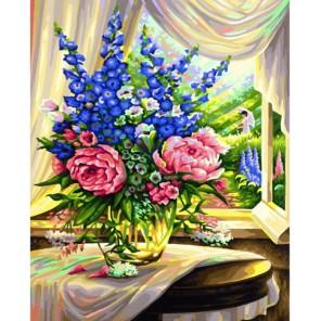 Цветы на столе Раскраска по номерам акриловыми красками Schipper (Германия)