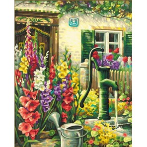 Цветник у дома Раскраска по номерам акриловыми красками Schipper (Германия)