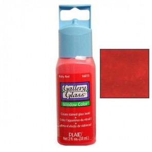 Красный рубин 16015 Витражная краска Gallery Glass Plaid