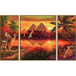 Пирамиды Триптих Раскраска по номерам Schipper (Германия)