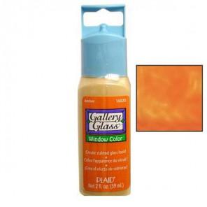 Оранжевый янтарь 16020 Витражная краска Gallery Glass Plaid