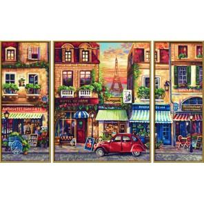 Париж Триптих Раскраска по номерам акриловыми красками Schipper (Германия)