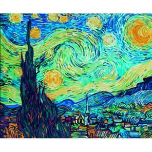 Звездная ночь ( репродукция Ван Гог) Раскраска по номерам Schipper (Германия)