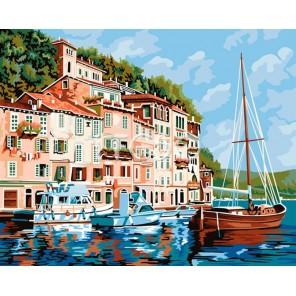 Лазурное побережье Раскраска по номерам акриловыми красками на холсте Iteso