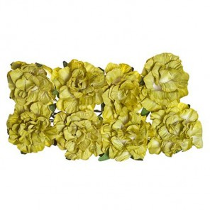 Гвоздики зеленые 8шт Цветы бумажные Украшение для скрапбукинга, кардмейкинга Scrapberry's
