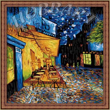 Ночное кафе (репродукция Ван Гог) Раскраска по номерам ...
